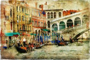 Amazing Venice, Rialto Bridge - Artwork In Painting Style by Maugli-l