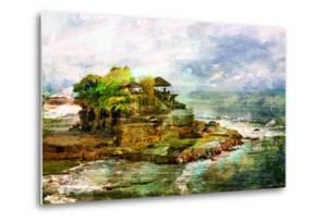 Ancient Balinese Temple - Picture In Painting Style by Maugli-l