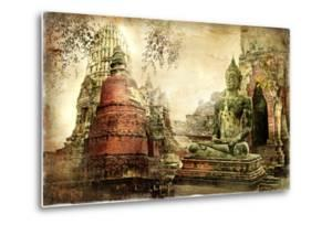 Ancient Cities Of Thailand - Artwork In Painting Style by Maugli-l