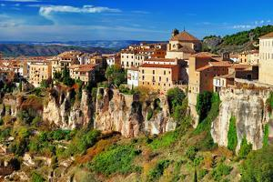 Ancient Spain - Cuenca Town on Cliff Rocks by Maugli-l
