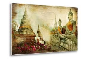 Ancient Thailand - Artwork In Painting Style by Maugli-l