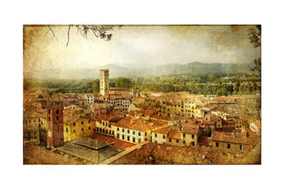 Ancient Town Lucca- Tuscany - Retro Styled Picture by Maugli-l