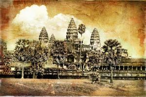 Anciet Angkor - Artwork in Painting Style (From My Cambodian Series) by Maugli-l