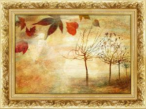 Autumn - Beautiful Painting In Gilded Frame by Maugli-l