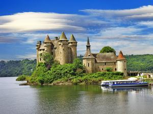 Beautiful Fairy Castle in Lake - Chateau De Val, France by Maugli-l