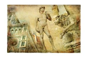 Beautiful Florence -Artistic Collage by Maugli-l