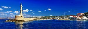 Beautiful Greek Islands Series - Crete ,Panorama with Light House by Maugli-l