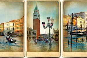 Beautiful Romantic Venice- Retro Cards by Maugli-l