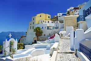 Beautiful Santorini Oia Town View by Maugli-l
