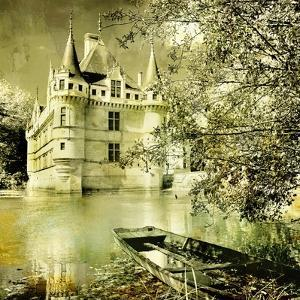 Castle On Water -Artwork In Painting Style by Maugli-l