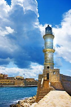 Chania Crete (Greece) - Dramatic Image of Light House by Maugli-l