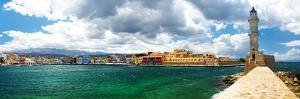 Chania Crete (Greece) - Panoramic Image with Light House by Maugli-l