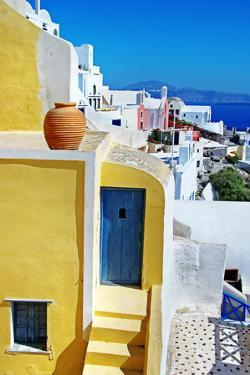 Colors of Greece Series - Santorini, Traditional Cycladic Architecture by Maugli-l