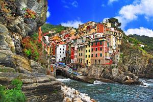 Colors of Italy - Riomaggiore, Pictorial Fishing Village,Liguria by Maugli-l