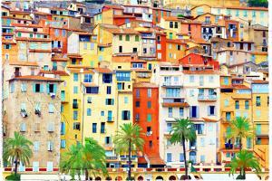 Colors of Mediterraneans - Houses of Menton by Maugli-l