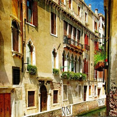 Colors Of Romantic Venice- Painting Style Series - Architecture