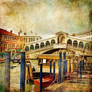 Colors Of Romantic Venice- Painting Style Series - Rialto Bridge by Maugli-l