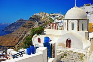 Colors of Santorini - Pictorial Fira Town by Maugli-l