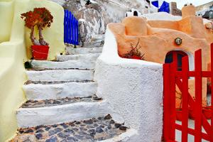 Colors of Santorini Series - Pictorial Detail of Oia Village by Maugli-l