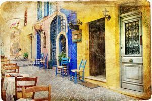 Colors of Sunny Greece - Retro Styled Artistic Picture by Maugli-l