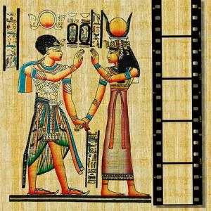 Egyptian Background With Film Strip by Maugli-l