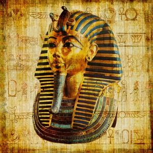 Egyptian Papyrus With Pharaoh by Maugli-l