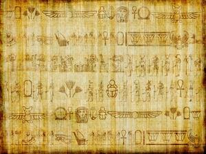 Egyptian Parchment With Hieroglyphics by Maugli-l