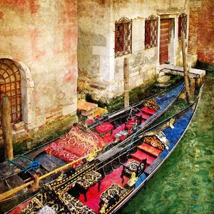 Gondolas Of Amazing Venice - Artistic Picture by Maugli-l