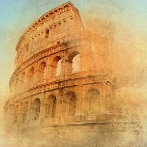 Great Antique Rome - Coloseum , Artwork In Retro Style by Maugli-l