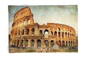 Great Colosseum - Artistic Retro Styled Picture by Maugli-l