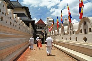 Greatest Buddhists Landmarks - Kandy, Tooth Temple, People Go on Ceremony by Maugli-l