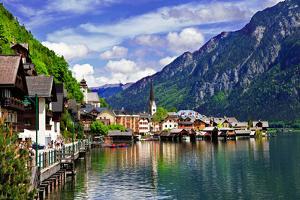 Hallstatt - Small Scenic Village in Alps, Austria by Maugli-l