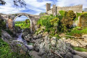 Impressive Ancient Bridge and Castle Vulci - Lazio, Italy by Maugli-l