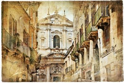 Italian Old Town Streets- Lecce by Maugli-l