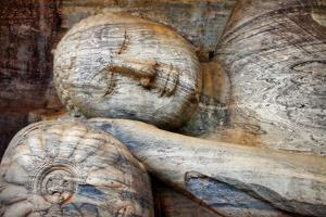 Laying Buddha in Polonnaruwa Temple - Medieval Capital of Ceylon,Unesco World Heritage Site by Maugli-l