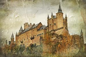 Medieval Castle Alcazar, Segovia,Spain- Picture In Paintig Style by Maugli-l