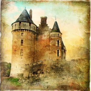 Medieval Castle - Artwork In Painting Style by Maugli-l