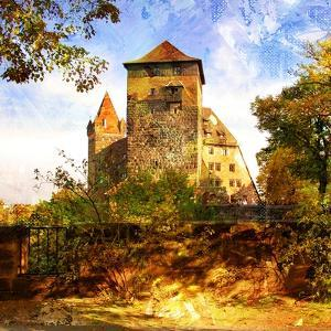 Medieval Castle In Germany - Artwork In Painting Style by Maugli-l