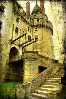 Medieval Castle- Picture In Retro Style by Maugli-l