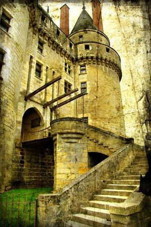 Medieval Castle- Picture In Retro Style
