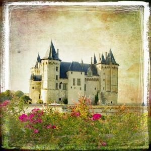 Medieval Castle - Retro Style Picture With Artistic Border by Maugli-l