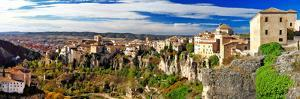 Medieval Town on Rocks Cuenca, Spain. Panorama by Maugli-l