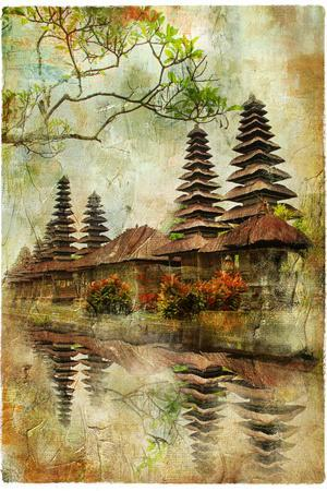 Mysterious Balinese Temples, Artwork In Painting Style