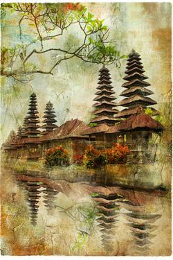 Mysterious Balinese Temples, Artwork In Painting Style by Maugli-l