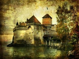 Mysterious Castle On The Lake - Artwork In Painting Style by Maugli-l