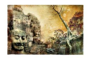 Mysterious Temples Of Ancient Civilisation - Artwork In Painting Style (From My Cambodian Series) by Maugli-l