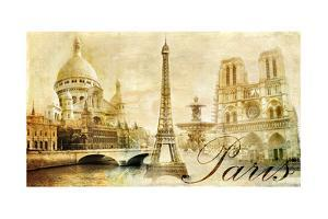 Old Beautiful Paris - Artistic Clip-Art from My Vintage Series by Maugli-l
