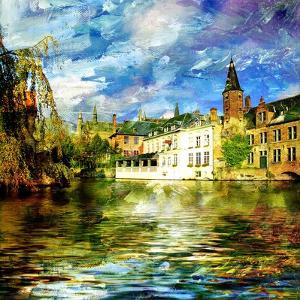 Old Belgium Channel - Picture On Painting Style by Maugli-l