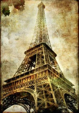 Old Paris -Vintage Series - Eiffel Tower by Maugli-l