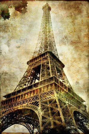 Old Paris -Vintage Series - Eiffel Tower